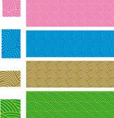 Asiatiska traditionella, sömlösa mönster - ange 01 — Stockvektor