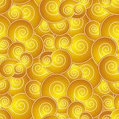 中国語のように渦巻き模様のシームレスなパターン — ストックベクタ
