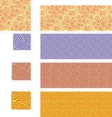 ασιατική παραδοσιακό, άνευ ραφής σχέδια - σετ 02 — Διανυσματικό Αρχείο