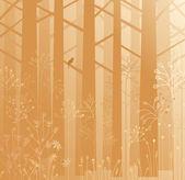 Ondergroei in de mist — Stockvector