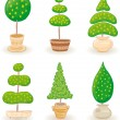 Stock vektor: Garden Trees - set 1