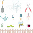 Gardening objects - Stock Vector