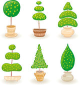 Garden Trees - set 1 — Vector de stock