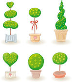 Jardim árvores - conjunto 2 — Vetorial Stock