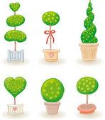 Jardín árboles - set 2 — Vector de stock
