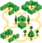 Garden designs set-1 — Stock Vector