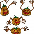 Four pumpkins — Stockvectorbeeld