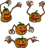 Four pumpkins — Stock Vector