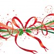 Christmas ribbon — Vector de stock #5335778