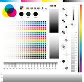 Utilidades de impresión cmyk — Vector de stock