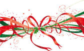 Christmas ribbon — Vector de stock