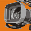 Tv camera — Stock Vector