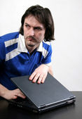 Man and laptop — Stock Photo