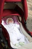 Sleeping in pram — Stock Photo