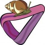 Snail at moebius strip — Stock Vector #4251716