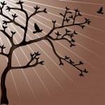 Abstract vector tree design — Stock Vector