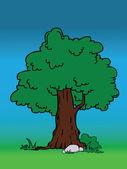Diseño del árbol — Vector de stock