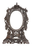 Vintage patterned metal frame for mirror isolated — Stock Photo