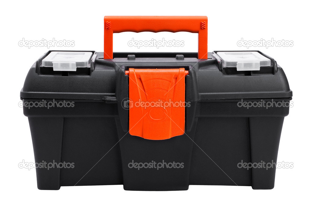 Plastic toolbox on white background — Stock Photo #4745821