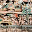 Close up details of the famous chola architecture - Stock Photo