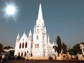 San Thome Basilica Cathedral, Church in Chennai (Madras), Southern India — Stockfoto