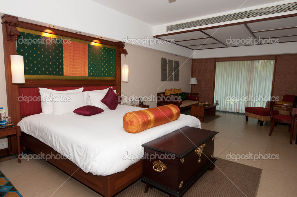 Luxury hotel room at a resort — Stock Photo #4688895