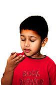 Mangiare caramelle — Foto Stock