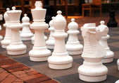 Large chess pieces — Stock Photo