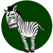 Amusing zebra — Stock Vector