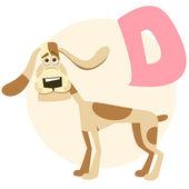 The English alphabet. Dog — Stock Vector