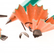 Stock Photo: Pencil and shavings