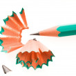 Pencil and shavings — Stock Photo