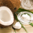 Coconut and coconut oil - Stok fotoraf