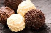 Chocolate truffles assortment — Stock Photo