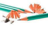 Pencils on white — Stock Photo