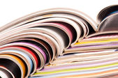 Stack of open magazines — Stock Photo
