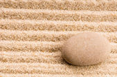 Zen. Stone and sand — Stock Photo