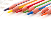 Collection of colorful pencils — Foto de Stock