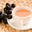 Stock Photo: Black chokeberry tea