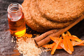 Cookies with cinnamon and orange — Stockfoto