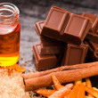 Stock Photo: Chocolate with orange and cinnamon