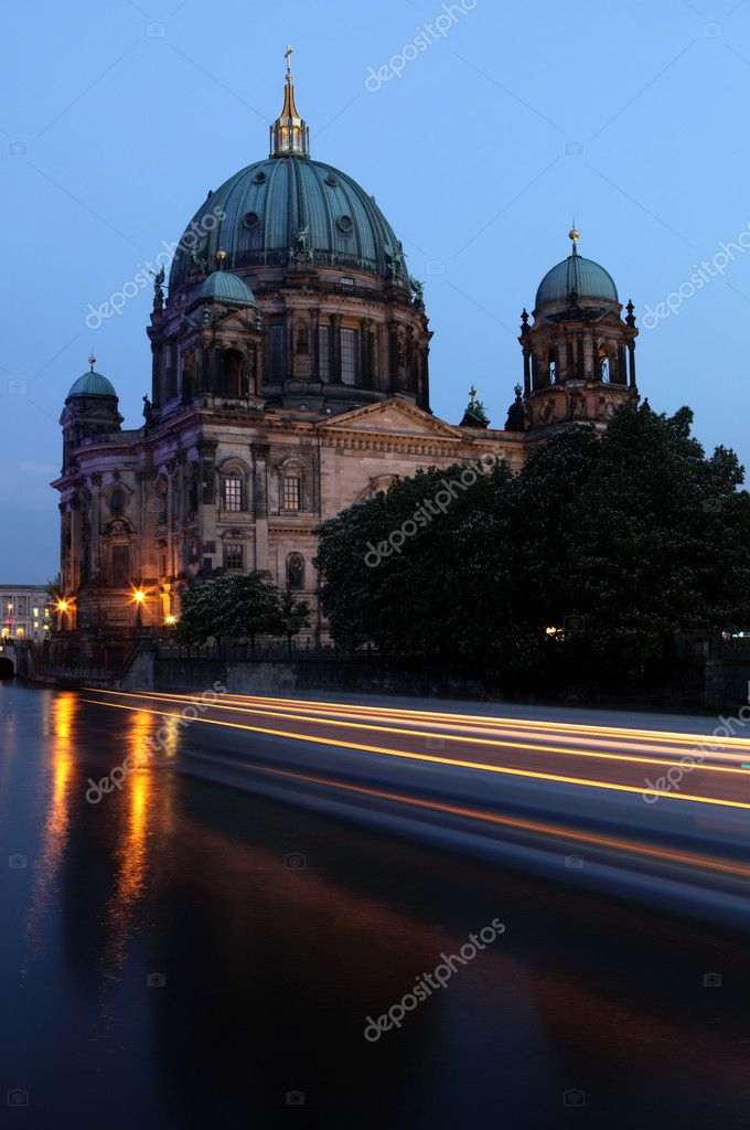 The Berliner Dom is a popular tourist destination in the heart of booming Berlin  Stock Photo #4745111