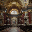 Inside St. Stephen Basilica in Budapest - Stock Photo