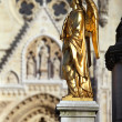Angel statues at Zagreb cathedral, Croatia — Stock Photo #4823612