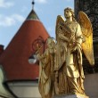 Angel statues at Zagreb cathedral — Stock Photo