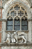 Winged lion relief,Venice — Stock Photo
