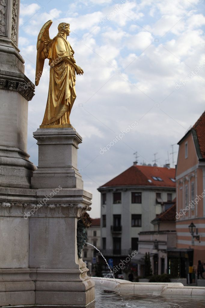 Gold angel   Virgin Mary Cathedral, Zagreb, Croatia  — Stock Photo #4823705
