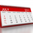 Calendar -  July 2011 - Stock Photo