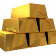 Gold bars — Stock Photo #4174936
