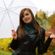 Young women with umbrella — Stock Photo #4130851